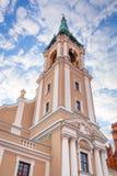 Kirche von Heiliger Geist in Torun Stockfotografie