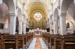 Kirche von Innenraum St. Catherine an der Kirche von Geburt Christi compl Lizenzfreies Stockfoto
