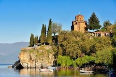Kirche von Johannes bei Kaneo, Ohrid stockbild