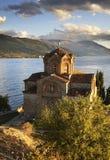 Kirche von Johannes bei Kaneo in Ohrid macedonia lizenzfreie stockbilder