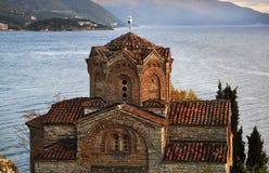 Kirche von Johannes bei Kaneo in Ohrid macedonia lizenzfreies stockbild