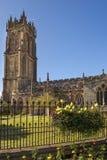 Kirche von Johannes der Baptist, Glastonbury, Somerset, England Lizenzfreies Stockbild