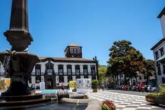Kirche von Johannes der Evangelist im Regionalregierungsbereich von Funchal Es ist die Collegekirche der Universität von Funchal Stockbilder