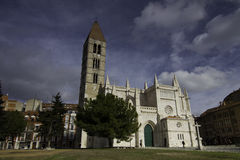 Kirche von La Antigua, Valladolid, Spanien 22. Dezember 2012 Stockbild