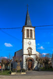 Kirche von Lenoncourt, Lothringen, Frankreich Lizenzfreies Stockbild