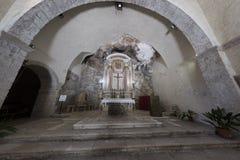 Kirche von Madonna-delle Grotte bei Antrodoco Rieti, Italien Stockfoto