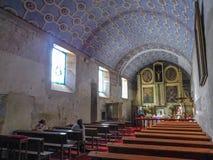 Kirche von malinalco stockfotografie