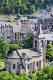 Kirche von Murol in Frankreich lizenzfreies stockfoto