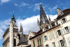 Kirche von Notre-Dame in Dijon, Frankreich lizenzfreies stockbild