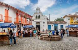 Kirche von Nutibara-Hügel, Medellin-Stadt in Kolumbien Stockbilder