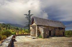 Kirche von Panagia-tis Asinou Nikitari-Dorf zypern stockbilder