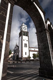Kirche von Ponta Delgada - Sao Miguel Ponta Delga Azoren Portugal lizenzfreies stockbild