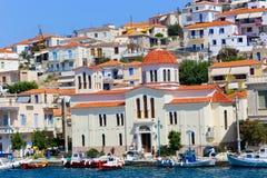 Kirche von Poros-Insel - Griechenland Lizenzfreies Stockfoto