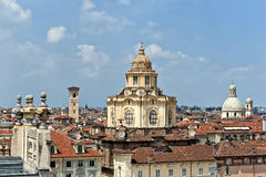 Kirche von S Lorenzo, Turin, Italien Stockfotos