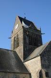 Kirche von Sainte bloßes Eglise in Normandie Lizenzfreie Stockbilder