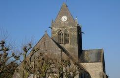 Kirche von Sainte bloßes Eglise in Normandie Stockfotografie