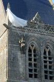 Kirche von Sainte bloßes Eglise in Normandie Stockbilder
