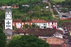 Kirche von Salento, Kolumbien lizenzfreie stockbilder