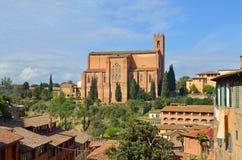 Kirche von San Domenica Siena Stockbild