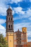 Kirche von San Francisco Templo de San Francisco von Puebla, Mexiko Lizenzfreie Stockfotografie