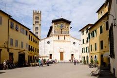 Kirche von San Frediano, Lucca Lizenzfreies Stockfoto