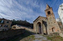 Kirche von San Martino in Savona in Ligurien stockfotografie