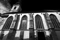 Kirche von sankt Nikolaus als Schwarzweiss-Bild Stockfotografie