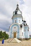 Kirche von Sankt Nikolaus das Wonderworker in Heiligem-p Ozerki Russland Stockbilder