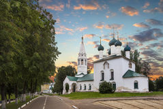 Kirche von Sankt Nikolaus hackte yaroslavl Russland lizenzfreie stockfotos