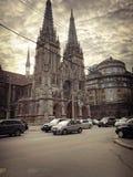 Kirche von Sankt Nikolaus, Haus des Organs und der Kammermusik, Roman Catholic Church von Sankt Nikolaus, Ukraine, Kiew am 17. Ap stockfotografie