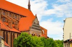 Kirche von Sankt Nikolaus in Wismar, Deutschland Stockbild