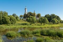 Kirche von Sankt- Nikolauswundertäter Filippovskoe-Dorf Stockfotografie