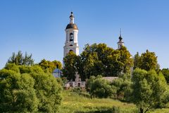 Kirche von Sankt- Nikolauswundertäter Filippovskoe-Dorf Lizenzfreie Stockfotografie
