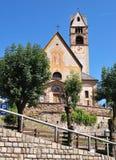 Kirche von ² Sans NicolÃ, Carano stockbilder
