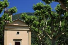 Kirche von Sant 'Anna di Stazzema, Ort des Nazimassakers von 1944 Am 12. August Kinder, Frauen und Männer wurden von der Nazi get stockbild