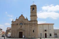 Kirche von Sant-` Efisio in Oristano Sardinien Italien lizenzfreies stockfoto