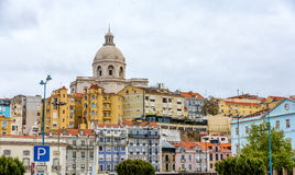 Kirche von Santa Engracia (nationaler Pantheon) in Lissabon Lizenzfreie Stockfotografie