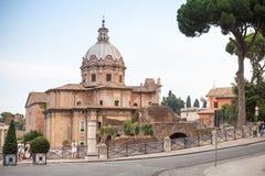 Kirche von Santi Luca e Martina in Rom Stockfotos