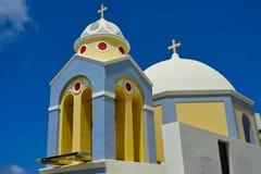 Kirche von Santorini stockbild