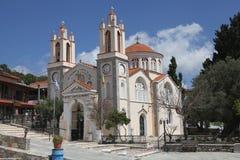 Kirche von Siana auf der Insel von Rhodos stockfoto