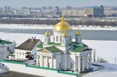 Kirche von St. Alexis des Blagoveschensky-Klosters in Nischni Nowgorod, Pussia stockfotografie