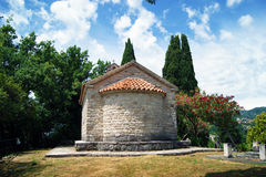 Kirche von St Anne in Herceg Novi Lizenzfreie Stockbilder