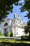 Kirche von St Anne in Warsaw's Wilanow, Polen Stockfotografie