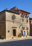Kirche von St. Antonio Abate. Vitorchiano. Lazio. Italien. Lizenzfreies Stockfoto