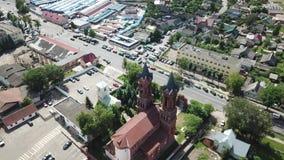 Kirche von St. Barbara stock video footage