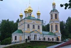 Kirche von St. Barbara Ples-Stadt, Russland Populärer touristischer Markstein berühmt durch seine Landschaften Lizenzfreie Stockbilder
