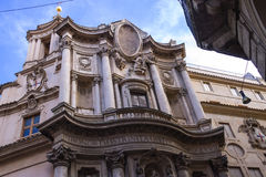 Kirche von St. Charles nahe den vier Brunnen rom Lizenzfreie Stockbilder