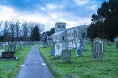 Kirche von St Cuthbert, Norham Stockbilder