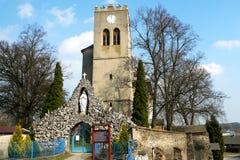 Kirche von St George in Naklo nahe Olomouc Lizenzfreie Stockfotos