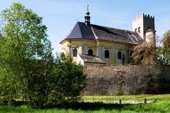 Kirche von St George in Naklo nahe Olomouc Stockfoto